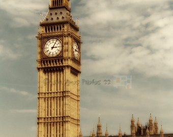 London photo - Big Ben - London England Fine Art Photo 8X12