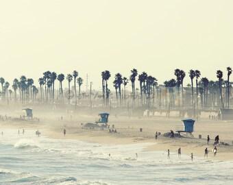 Summer Day at the Beach - 16x24 Photo of Huntington Beach California, Beach House Decor, Wall Art, California Photography