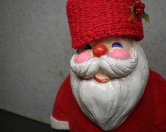 Vintage 1980s Christmas Decoration - Santa