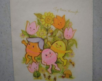 Vintage 1970s Unused Greeting Card - Happy Easter