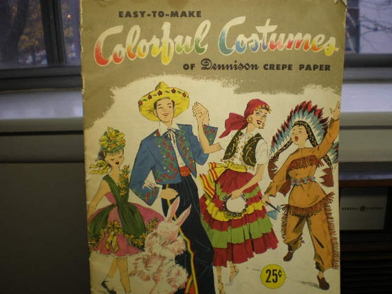 Vintage 1950s How To Make Colorful Costumes