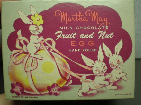 Vintage 1950s Illustrated Easter Candy Box