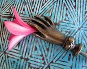 Tangan Hand Brass Drawer Pull