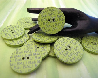 Bali 25mm Scrapbook Buttons 6pcs