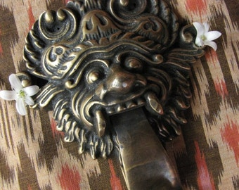 Balinese Barong Sae Brass Doorknocker