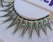 Mermaid Tears - Ultra Sparkly Exclusive False Eyelashes with Swarovski AB Crystal  Diamante