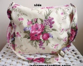 Floral Messenger bag/ Medium /Everyday Bag /Zippered Closure / Adjustable strap/waterproof