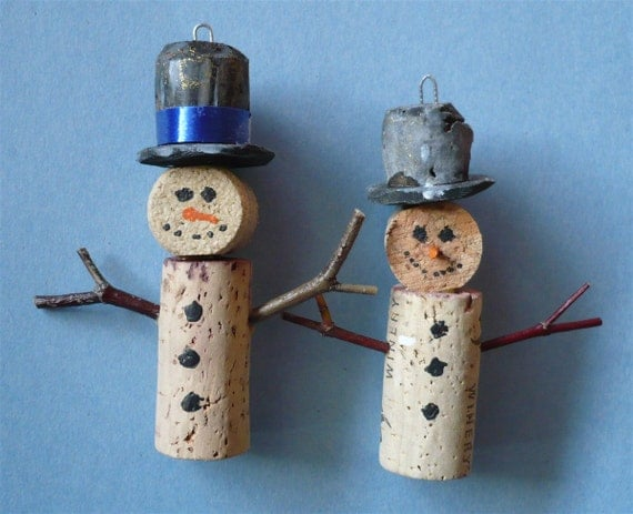 Pair of Wine Bottle Cork Christmas Tree by ShadeTreeClassics