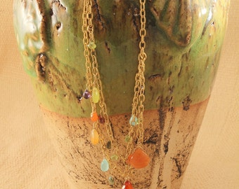 colorful semiprecious stones necklace