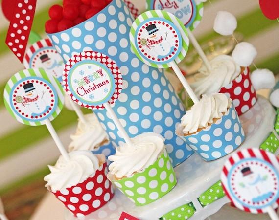 Christmas Snowman Party | Christmas Printables | Christmas Decorations | Snowman Printable | Snowman Decoration | Amanda's Parties To Go