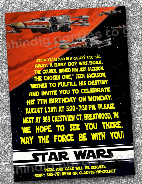 Star Wars Birthday Invites as good invitations design