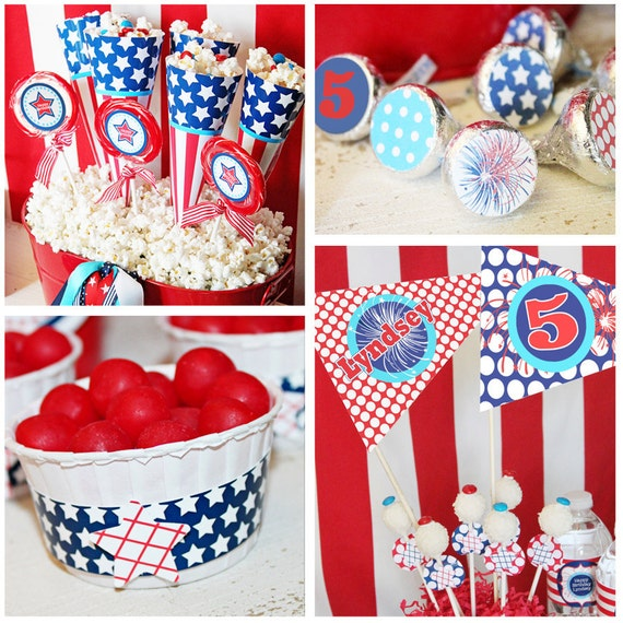 May The Fourth Be With You Wedding Favors: July 4th Birthday Party Decorations July 4th Party