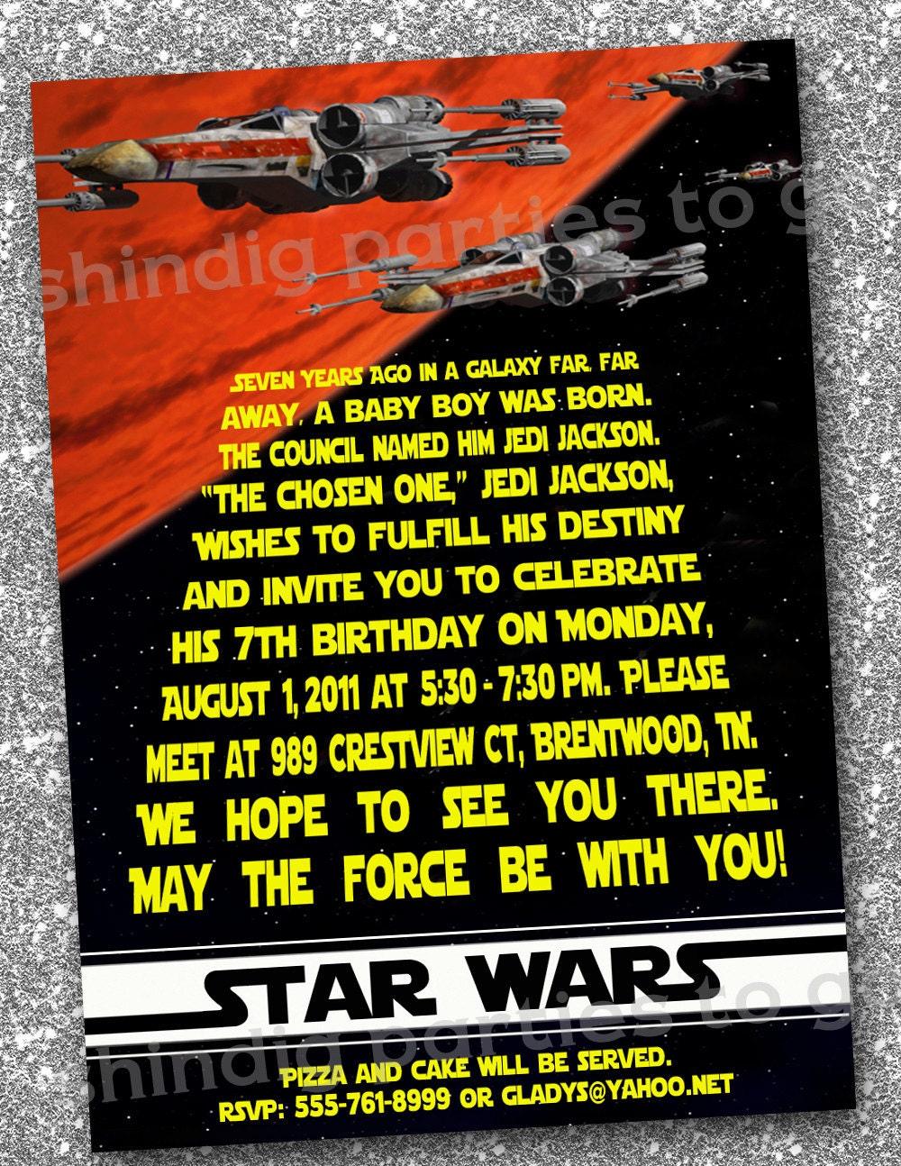 40th Birthday Ideas: Birthday Invitation Template Star Wars