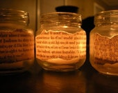 Tea Light Jars Candle Holders Vintage Wedding or Party Favors reserved for zcabot
