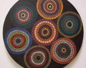 PrimiTive FolKart Penny HooKed Rug  Style Painting