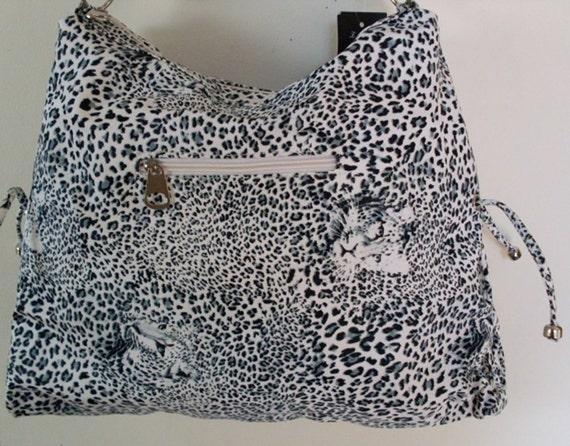 Black White Animal Print Ladies Roomy Bag Purse LJO Collection