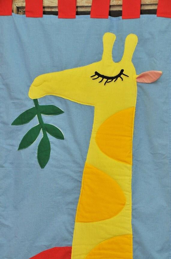 Color Blind - Giraffe-CURTAIN FOR KID