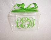 Personalized Acrylic Recipe Box 4x6 BLANK CARDS Included & Gift Wrapped