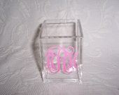 Personalized Acrylic Pen Pencil Holder Gift Wrapped