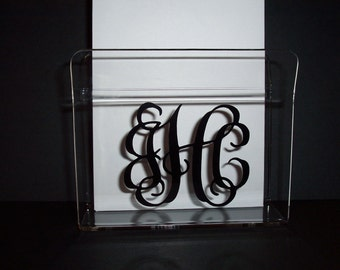 Personalized Acrylic Napkin or Letter Holder