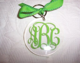 Personalized Acrylic Keychain Key Ring Gift Wrapped