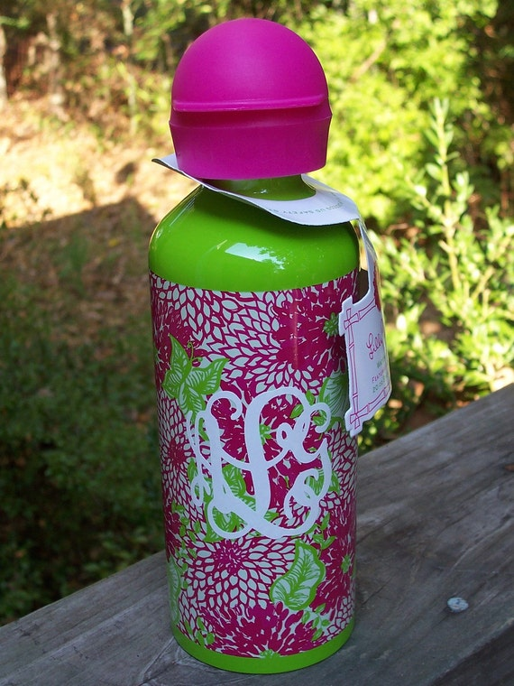 Lilly Pulitzer Personalized Water Bottle White Zin