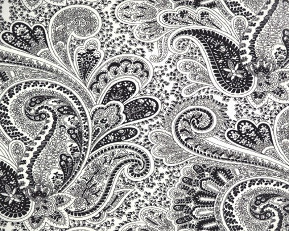 Items Similar To Black And White Paisley Custom Shower Curtain On Etsy