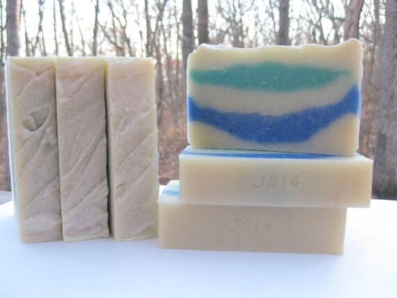 Ocean Rain Soap - Handmade Soap - Cold Process Soap - Homemade Soap - LAST BAR