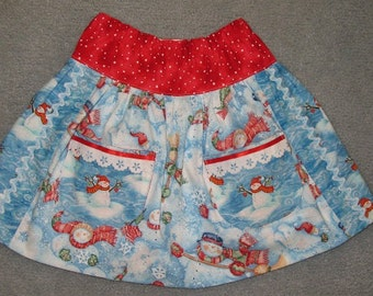 Sale - Snowman skirt size 4
