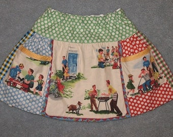 Sale - Summer Fun apron skirt size 2T