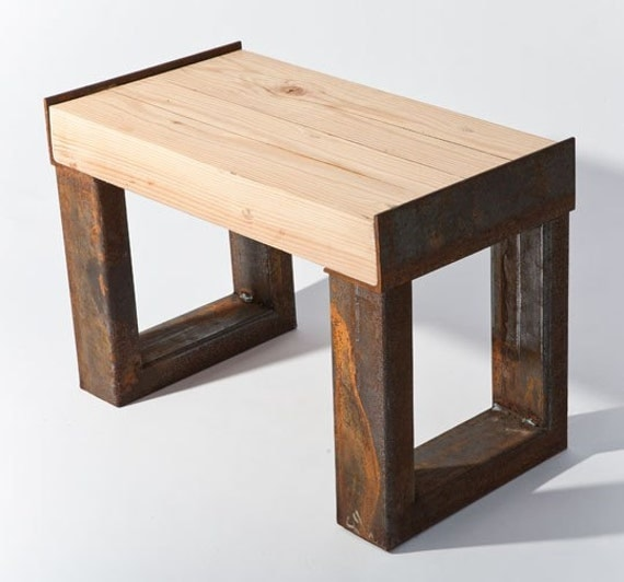 Items Similar To Contempory Reclaimed Wood Bench On Etsy