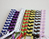 Retro 80s Braided Barrettes -- You Pick the Colors -- Sports Teams, School Uniform, Birthday Party Favors