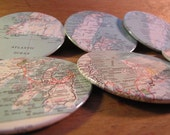 Vintage Newfoundland Map Coasters - St. John's and More - Newfoundland, Canada (Set of 6)