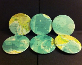 Indian Ocean Map Coasters (Set of 6)