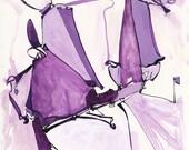 Purple Persnickety - Fine Art Print
