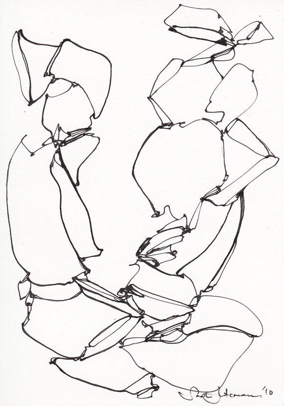 Original Ink Drawing sketch III