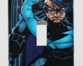 Robin Nightwing DC Comic Book Resin Switchplate Light Cover