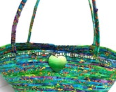 Carribean Green Handbag, Reserved for Lovies Cottage, with added strap and button