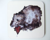 Rat with a Heart 'Always Love' Drink Coasters, set of 4