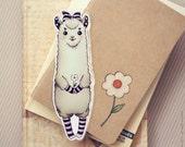Cute Alpaca bookmark (pocket size book)