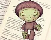 Acorn pocket size bookmark