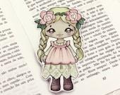 Mori Girl pocket bookmark