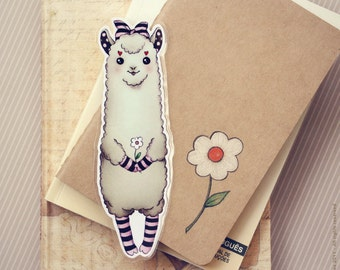 Cute Alpaca pocket size bookmark - made to order