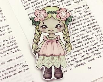 Mori Girl pocket bookmark - made to order