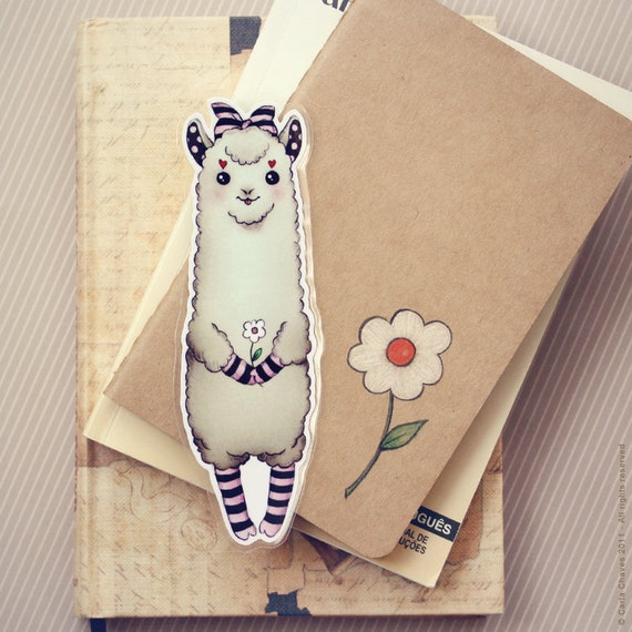 Cute Alpaca bookmark (pocket size book)