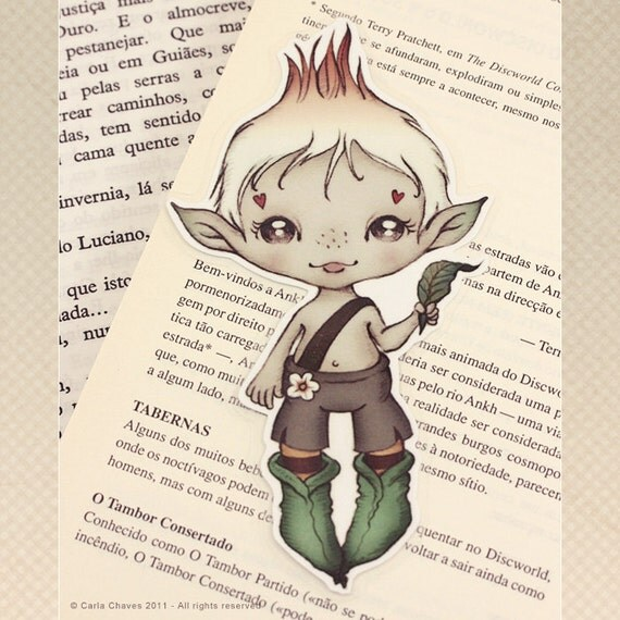 Elf pocket size bookmark - made to order