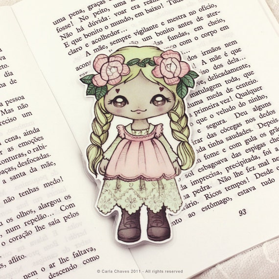 Mori Girl pocket bookmark