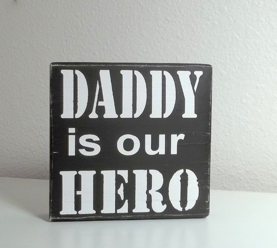 Father's Day Gift Custom Daddy, Grandpa, Papa Is My/Our Hero You Choose the Name