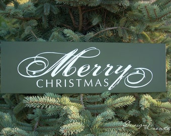 MERRY CHRISTMAS sign- Wood Sign, Custom sign, Christmas decoration, holiday sign