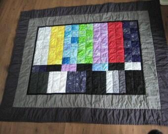 TV Test Pattern Lap Quilt All Cotton